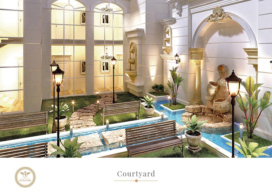 boulevard courtyard