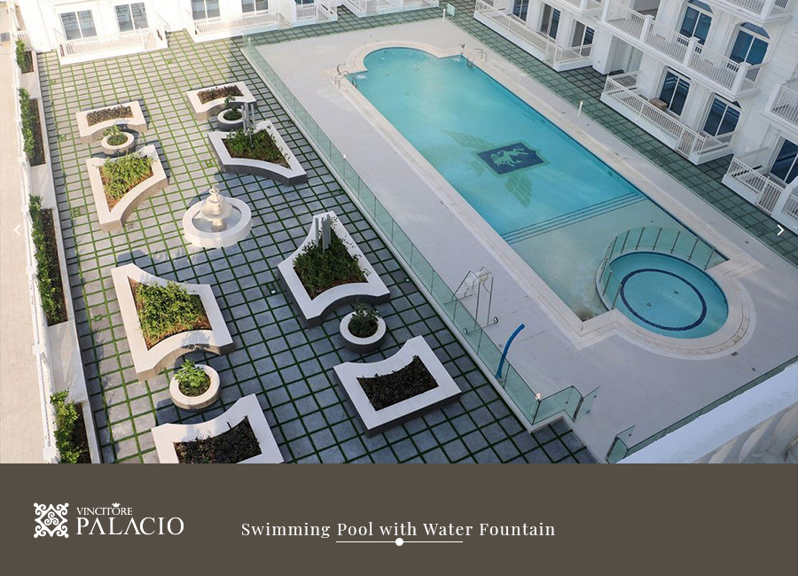 vincitore-palacio-project-amenities-swimming-pool-with-water-fountain-vincitore-real-estate-development-llc